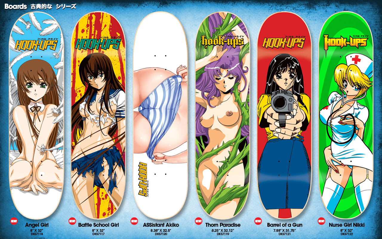 Hookups skate stickers